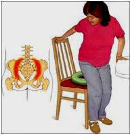 женщине больно садиться на стул