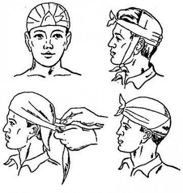 4 вида повязок на голову