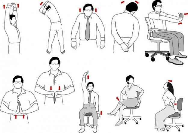 Упражнения, которые можно выполнить прямо на рабочем месте