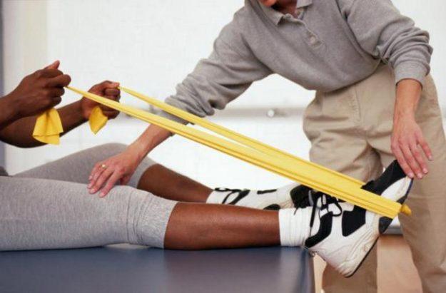 Занятие по лечебной физкультуре