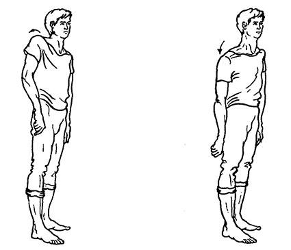 Поочерёдный подъём и опускание плеч