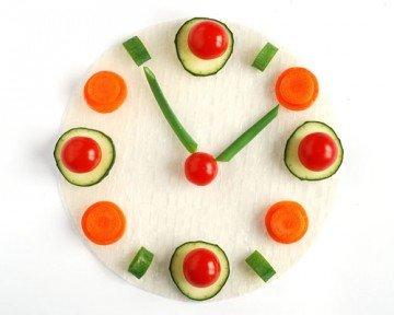 часы из овощей