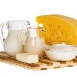Молоко, сметана и сыр