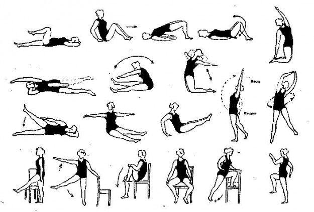 Комплекс упражнений при гонартрозе коленного сустава