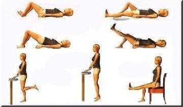 Комплекс упражнений на спине и со стулом