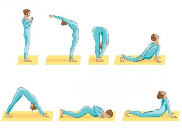 упражнения для занятия йогой
