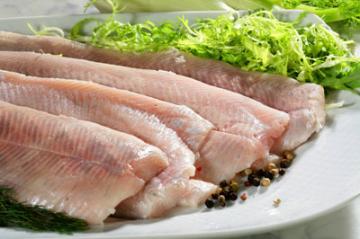 Нежирная рыба и зелень