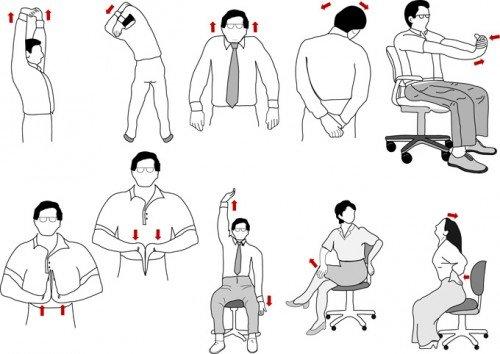 Разминка для спины и шеи