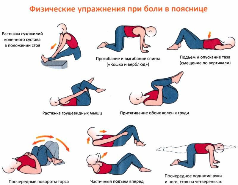 Упражнения не болела поясница