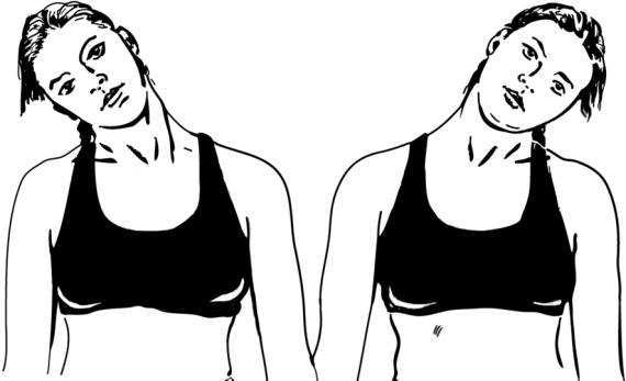 Наклоны головы во время выполнения упражнения «Метроном»