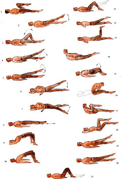 Комплекс упражнений для пояснично-крестцового отдела